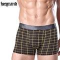 Hee grand 2017 nuevo hombre moda sexy underwear impresión del hombre boxers hombre cómodos calzoncillos boxer de algodón a cuadros suave nnp172