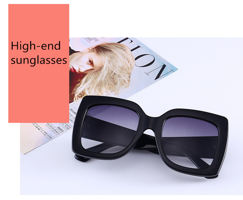 ASUOP2018 new retro large frame fashion sunglasses luxury classic men driving glasses ladies travel color UV400 cat eye goggles  (16)