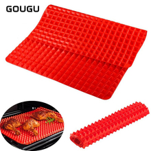 Silicone Baking Mats Pad Pyramid Shape Nonstick BBQ Pan Bakeware Moulds Microwave Oven Tray Sheet Kitchen Tools