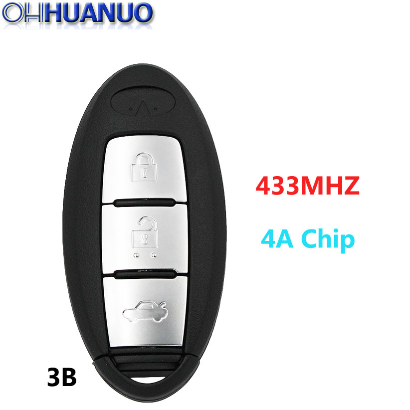 US $28 99 |New Smart Remote Key Fob 3 Button 433MHZ with 4A Chip for  Infiniti Q50 Q50L Q50S-in Car Key from Automobiles & Motorcycles on