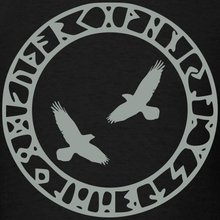 Viking Rune Circle with Odin's Ravens Men's T-Shirt