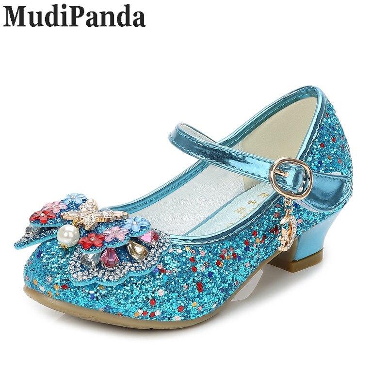 MudiPanda Glitter Dzieci Dziewczyny Szpilki Buty Dla dzieci - Obuwie dziecięce - Zdjęcie 3