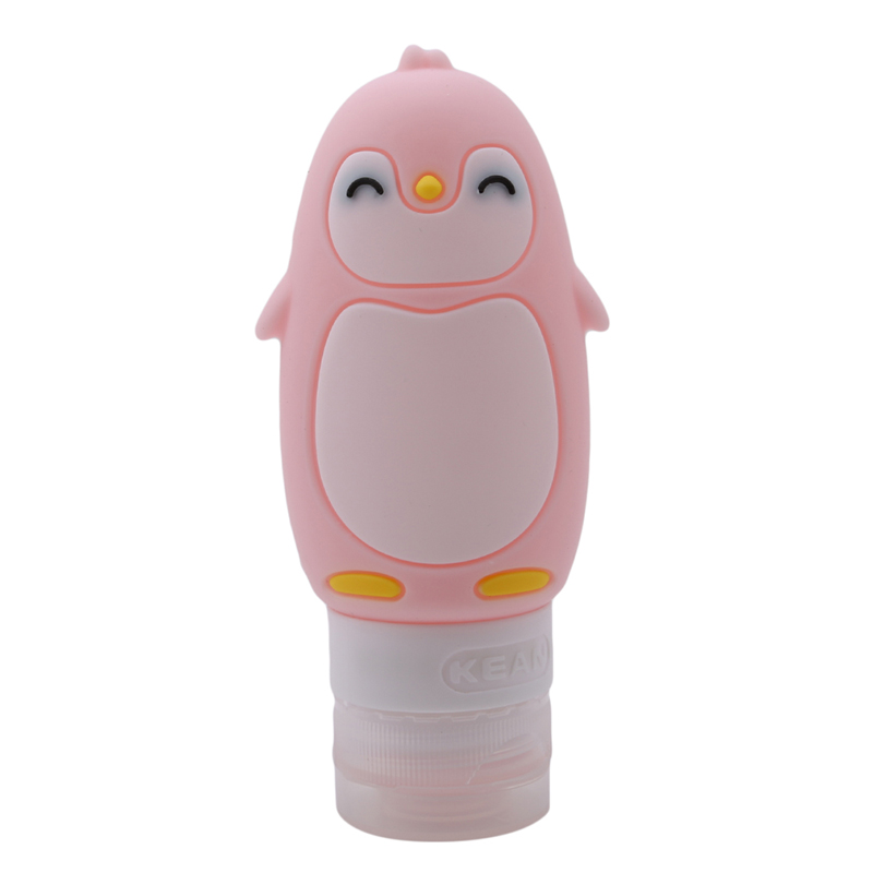 Portable Traval Make Up Bottles New Fashion 90ml Cute Penguin Shape Adorable Silicone Squeeze Liquid Or Cream Bottle