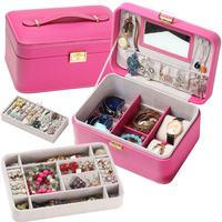 *Large capacity Suitcase Sunglasses/Watches Leather Material Jewelry Accessories Storage Box Storage Bag Place Classified