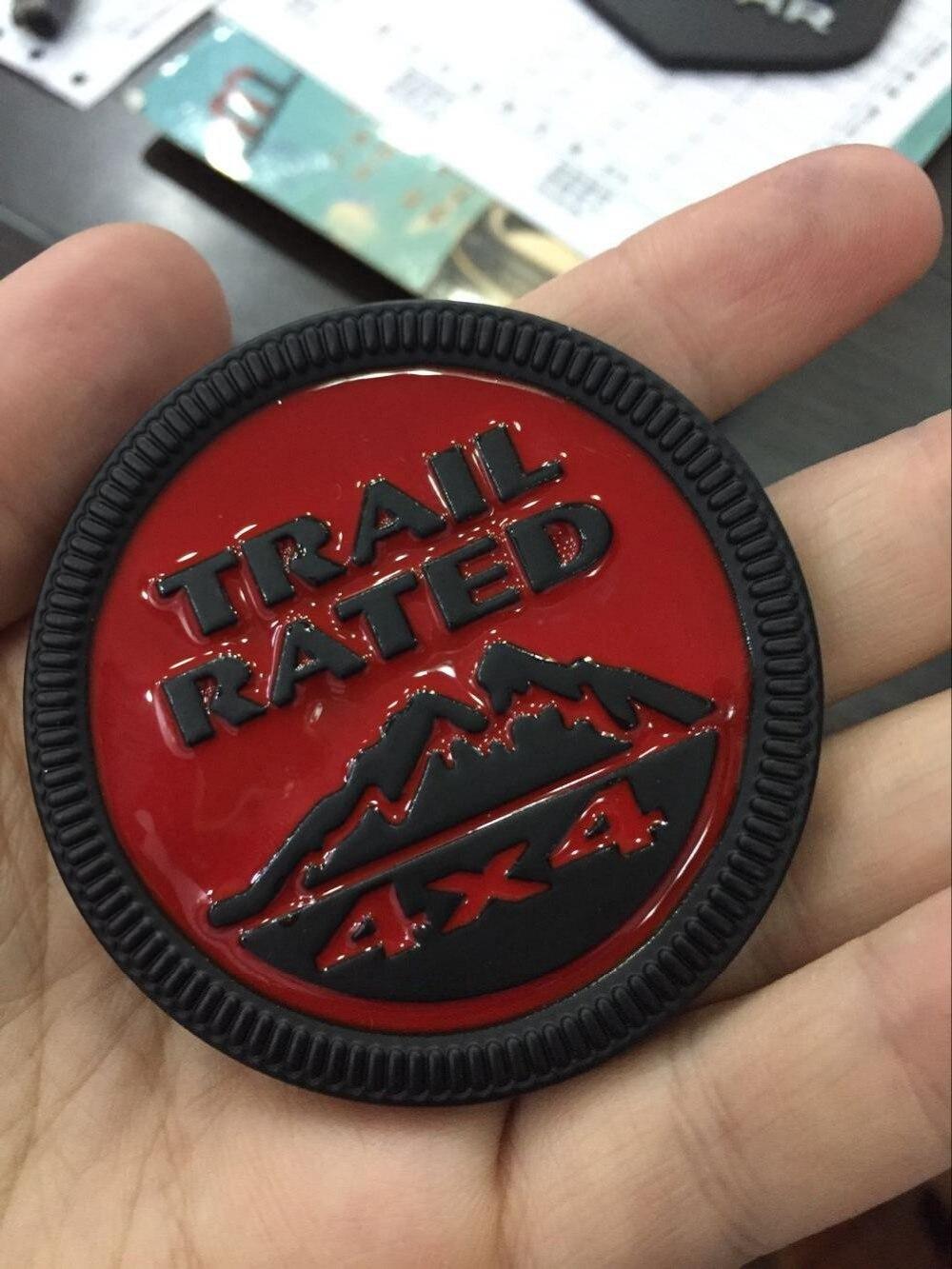 3D Sticker Emblem Badge for jeep Patriot Compass Wrangler Logo Trail Rated 4X4 Fender Tr ...