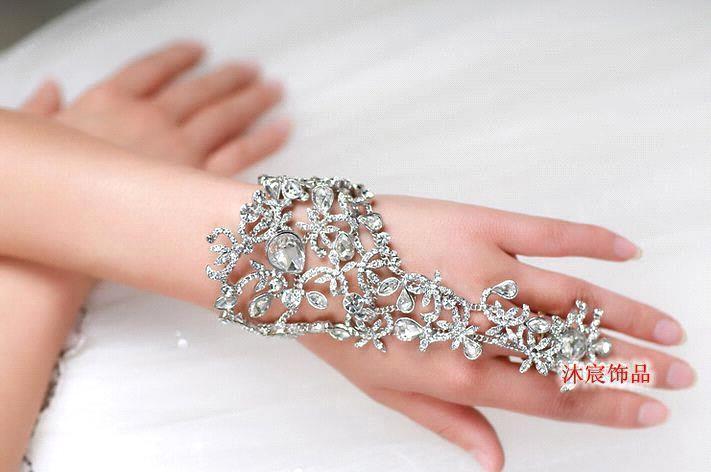 100% Handmade 2017 Women Luxury Vintage Crystal Flower Bridal ...
