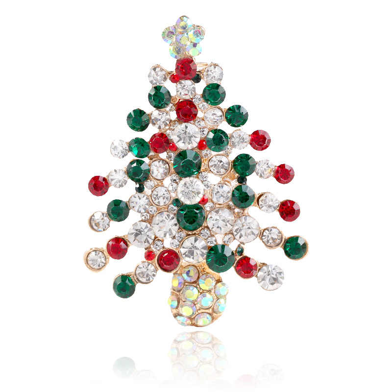 CINDY XIANG Colorful Rhinestone Christmas tree Brooches For Women Creative  Gift Pins Coat Dress Accessories Party 0014d755cd6c
