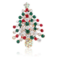 CINDY XIANG Colorful Rhinestone Christmas tree Brooches For Women Creative Gift Pins Coat Dress Accessories Party Jewelry 2018