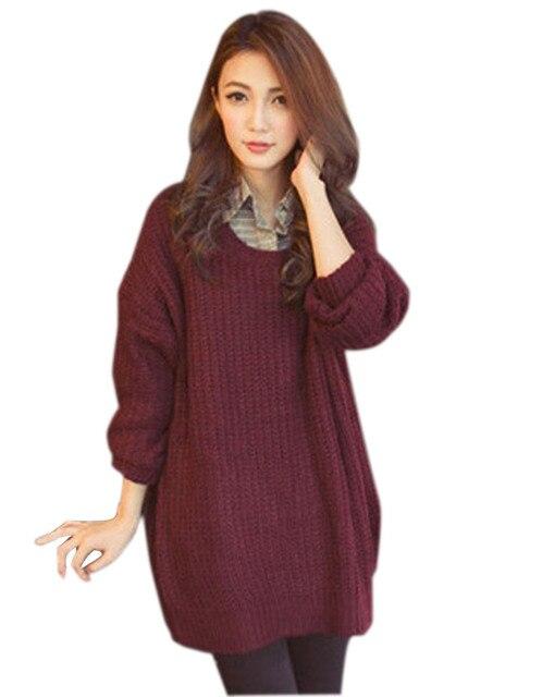 FANALA Свитер Женщин Осень Зима Пуловеры женская Мода O-образным Вырезом С Длинным Рукавом Пуловеры Свитера Случайные Свободные Свитера