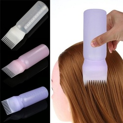 2018 Hot Women's Fashion Hair Dye Bottle Applicator Brush Dispensing Salon Hair Coloring Dyeing Tools 120ml