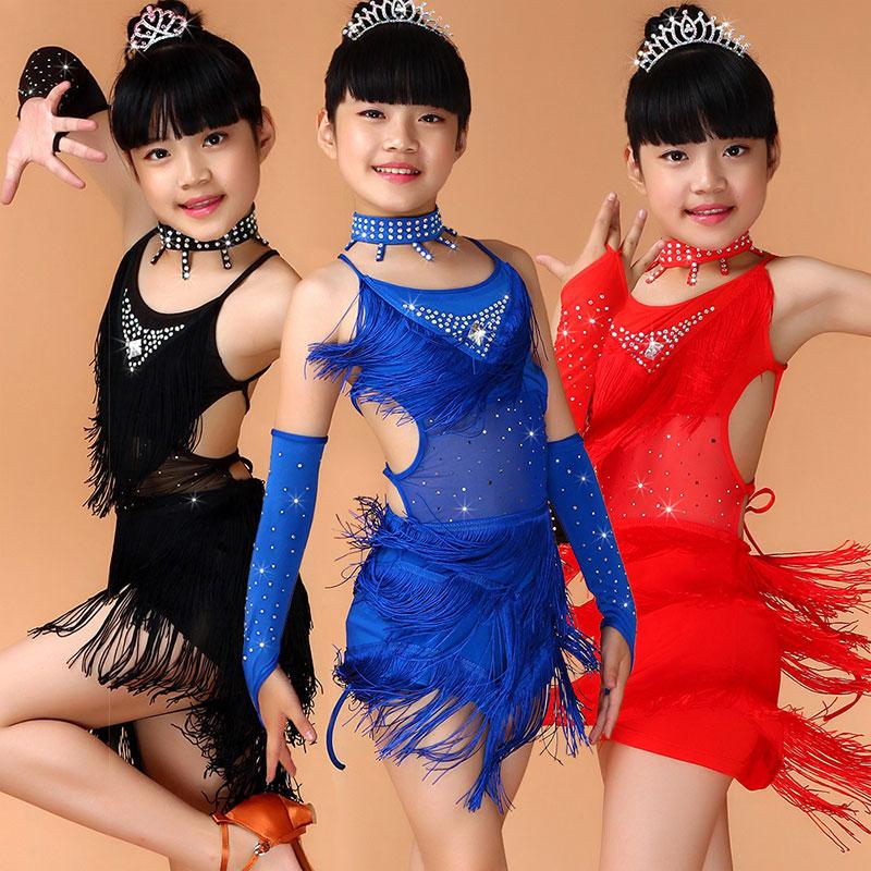 Competencia Vestido de baile latino para niñas Vestido de samba - Novedad