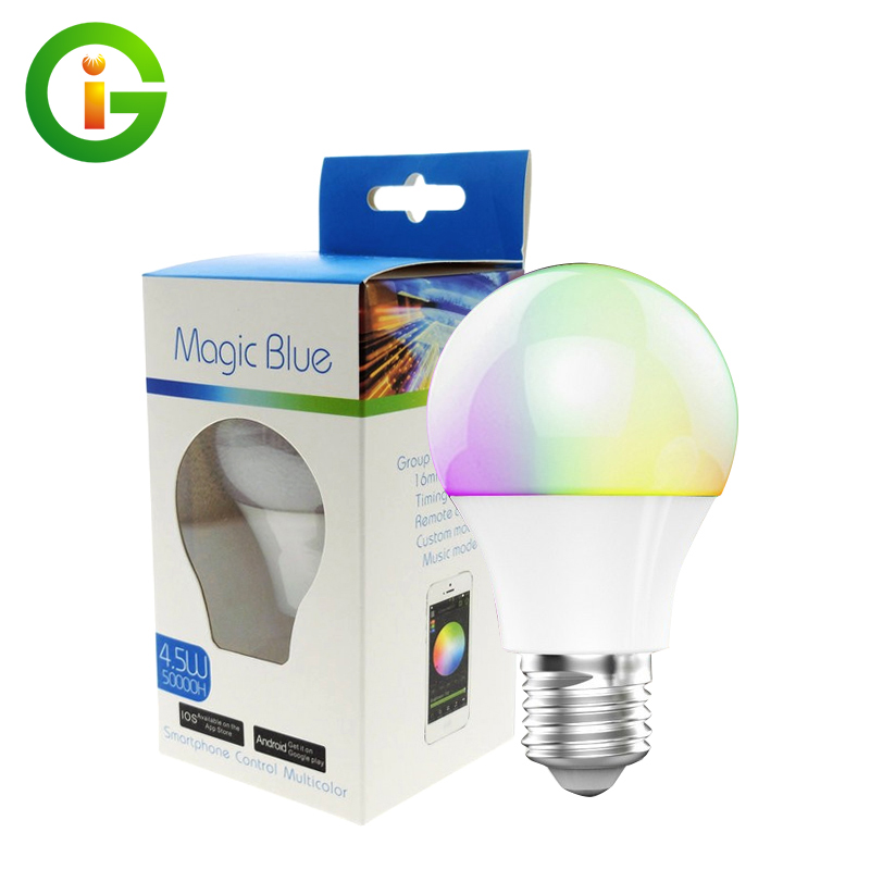 Bluetooth LED Bulb E27 RGBW 4.5W Bluetooth 4.0 Smart Lighting Lamp Color Change Dimmable Led bulb Light For Home Hotel/Party кольцо коюз топаз кольцо т242015561