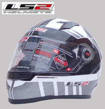 Free shipping LS2 FF358-1 edition sports car with an airbag helmet motorcycle helmet wearable lens / gray