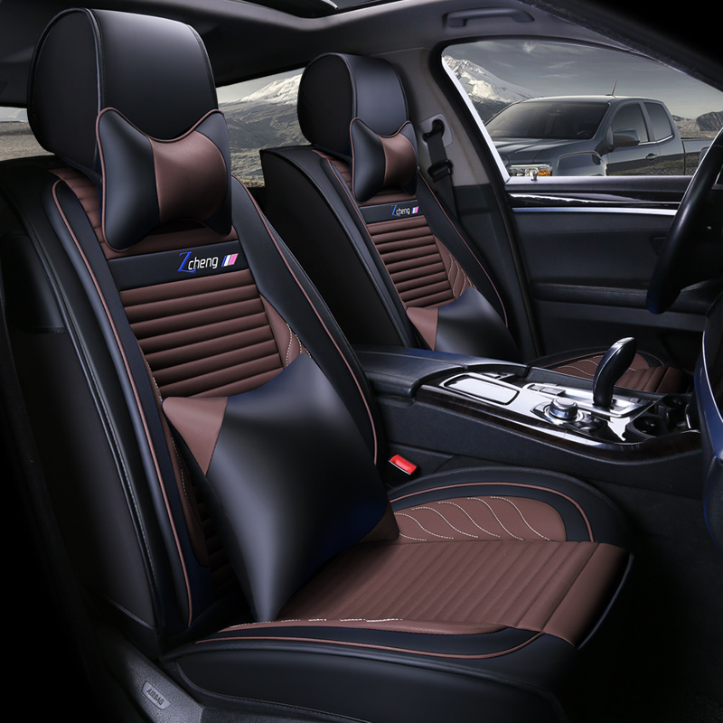WLMWL Universal Leather Car seat cover for Volkswagen all models polo golf tiguan Passat jetta VW Phaeton touareg Phaeton CC