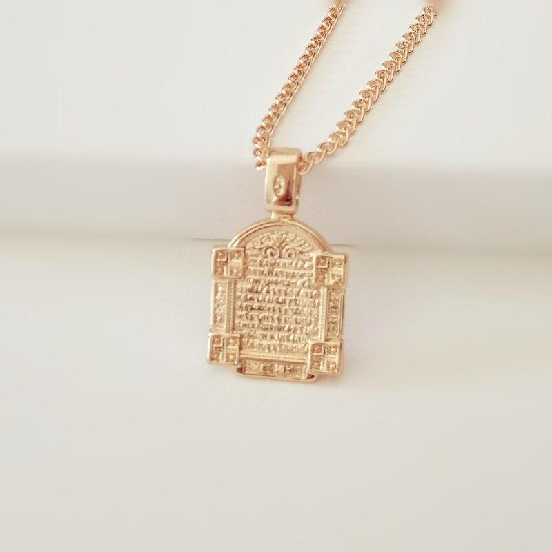 новый традиционный розового золота цвета женщины мужчины ювелирные изделия классический 2018 металл православные ожерелье 32x19 мм