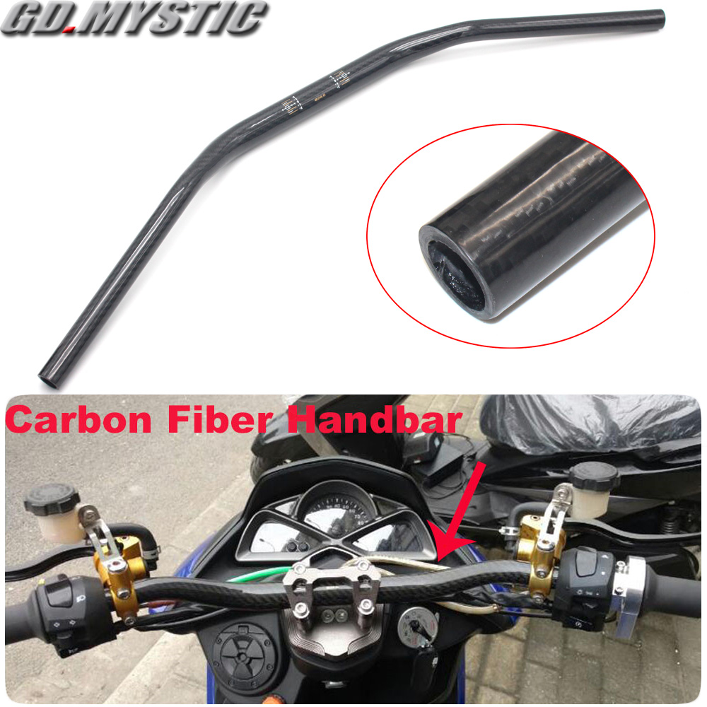 Universal 28mm 72cm Motorcycle Carbon Fiber Handle Bar Handlebar For Kawasaki Z125 Z250 Z300 Z400 Z650 Z800 Z900 Z1000 Z1000RS
