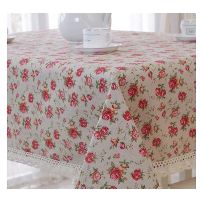 Nové háčkované krajky ubrus růže potištěné ubrusy potah bavlna a prádlo vysoce kvalitní český styl doprava zdarma Nepál