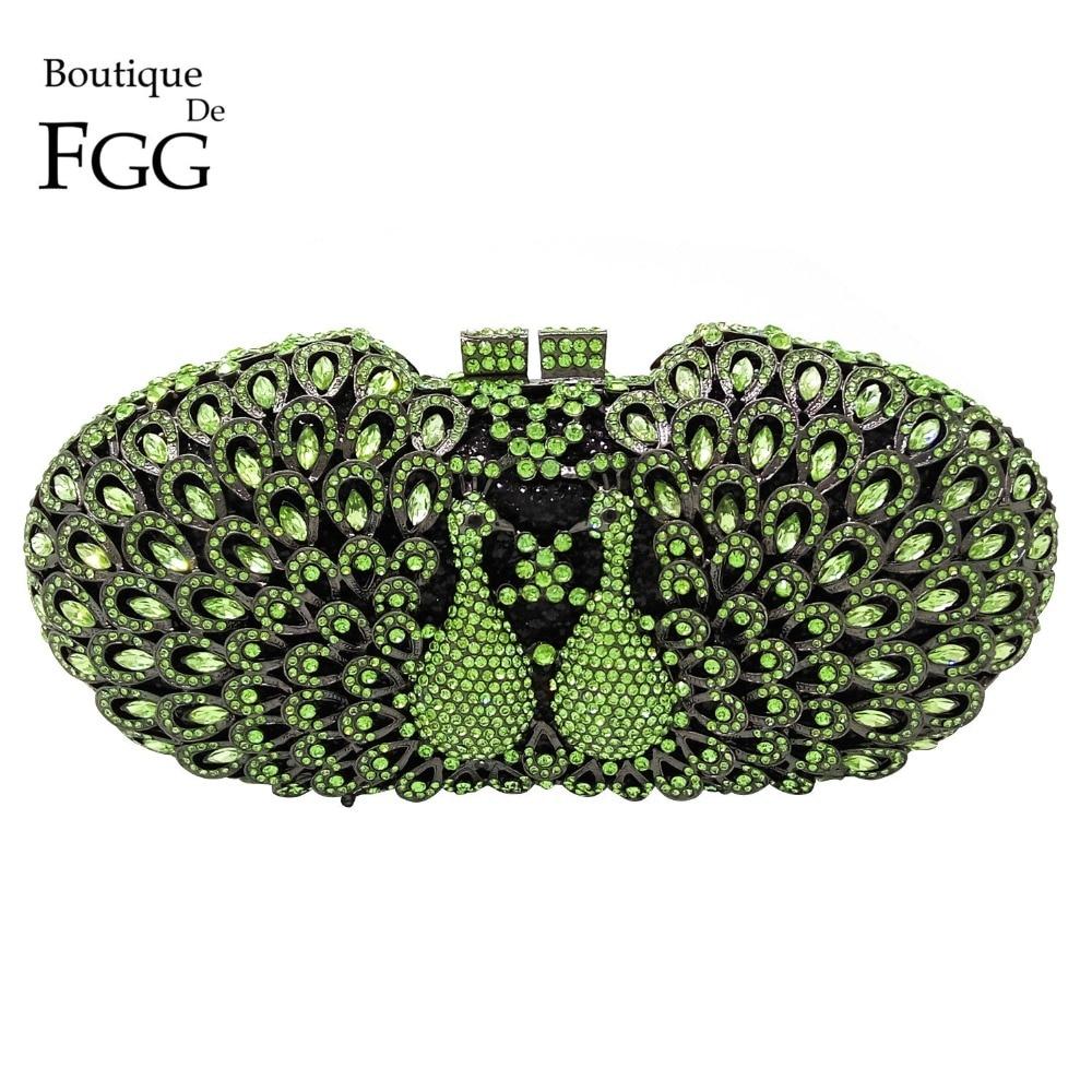 ФОТО Green Emerald Crystal Rhinestones Animal Peacock Women Evening Clutch Bags Hard Case Bridal Mini Wedding Handbags Shoulder Purse