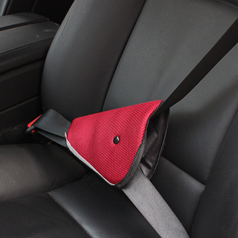 Car seat belt adjustment triangle fixator Vehicle protection to prevent le neck shoulder ...
