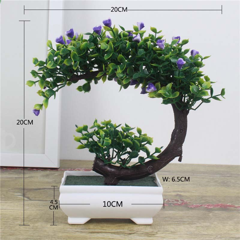 Artificial Plants Bonsai Small Tree Pot Plants Fake Flowers Potted Ornaments For Home Decoration Hotel Garden