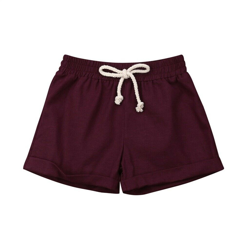 Mother & Kids Baby Boy Girl Shorts Summer High Waist Short Trousers Casual Sweatpants Joggers Cotton Bottoms Pp Leggings Boys Girls Shorts