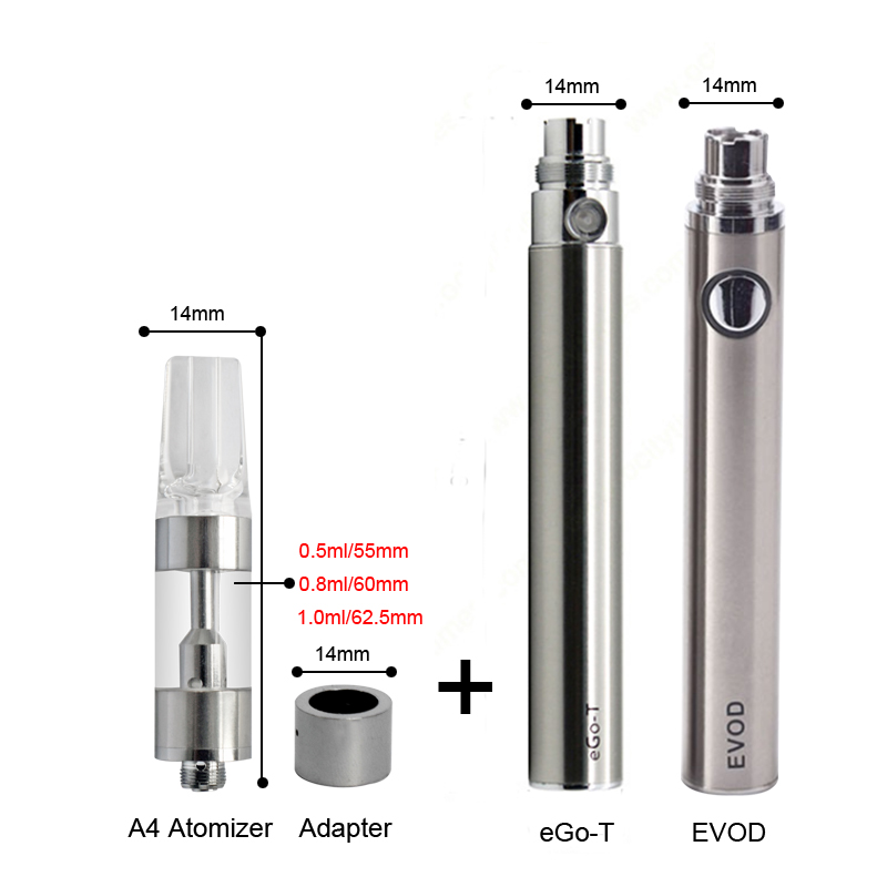 Max C8 Preheating VV Battery 650mAh Adjustable Voltage With Thick Oil Vaporizer Vape Bottom Charging Electronic Cigarette Kits (1)