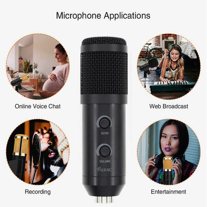 BM 900 USB микрофон для компьютера конденсаторный студийный караоке микрофон для ПК Бесплатная доставка