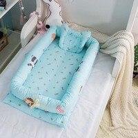 Baby Bumper Baby Foldable Sleeping Crib Bed 90*50*15cm Portable Crib Bassinet Basket Baby Travel Bed Crib Bedding Sets