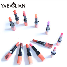 yabaolian 12 color natural long lasting Matte lipstick Red Velvet Beauty nude lip gloss brand Base makeup Cosmetic