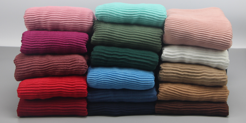 Ripples Plain Cotton Women Wrinkled Scarves Shawls Muslim Hijabs Long Scarf Women Luxury Scarves And Stoles 10pcs/lot