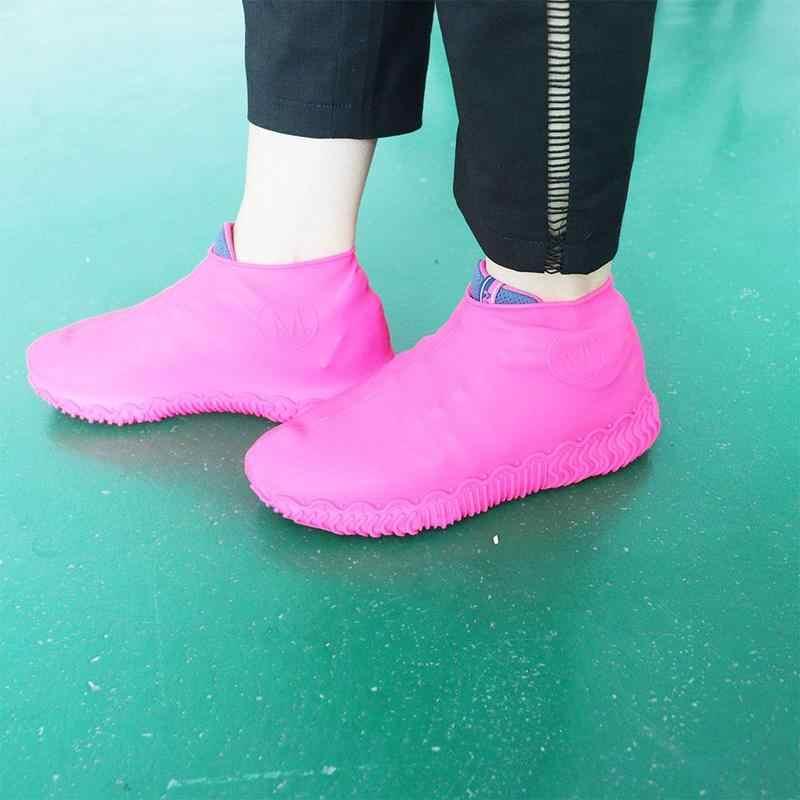 Su geçirmez Ayakkabı Kapakları Kayma-dayanıklı kauçuk yağmur çizmeleri Galoş S/m/l Ayakkabı Aksesuarları yağmur ayakkabıları Kadın Ayakkabı Kapakları Kapakları