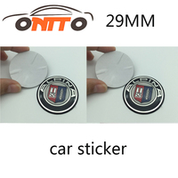 10 STKS/SET hotsell auto sticker decal 29mm 1.14 inch auto multimedia sticker voor ALPINA auto accessoires hoge quingity
