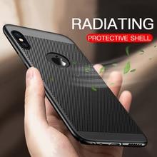 Ultra Slim respirar caso para iPhone Xr Xs Max 6S 6 7 8 Plus 5S 5 S SE X Coque de la cáscara del teléfono de disipación de calor caso duro de la PC