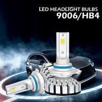 YAM 2x NEW High Performance 9006 180W 30000LM LED Headlight Kit Beam Bulbs 6000K