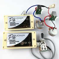 1 Set cromado LP estándar ProBucker N y B guitarra eléctrica Humbucker Pickups con arnés de cableado profesional para EPI silver cubierta