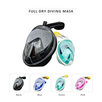 Full Face Snorkeling Mask Set Diving Underwater Swimming Training Scuba Mergulho Snorkeling Mask For Gopro Camera for sjcam cam