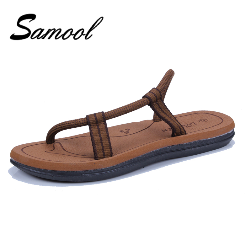 Summer Men's Casual Flip Flops New Cross Rope Flat Sandals Male Beach Slippers Samool Fashion Soft Bottom Summer Shoes Man dx5 chatterbox pupil s book 2
