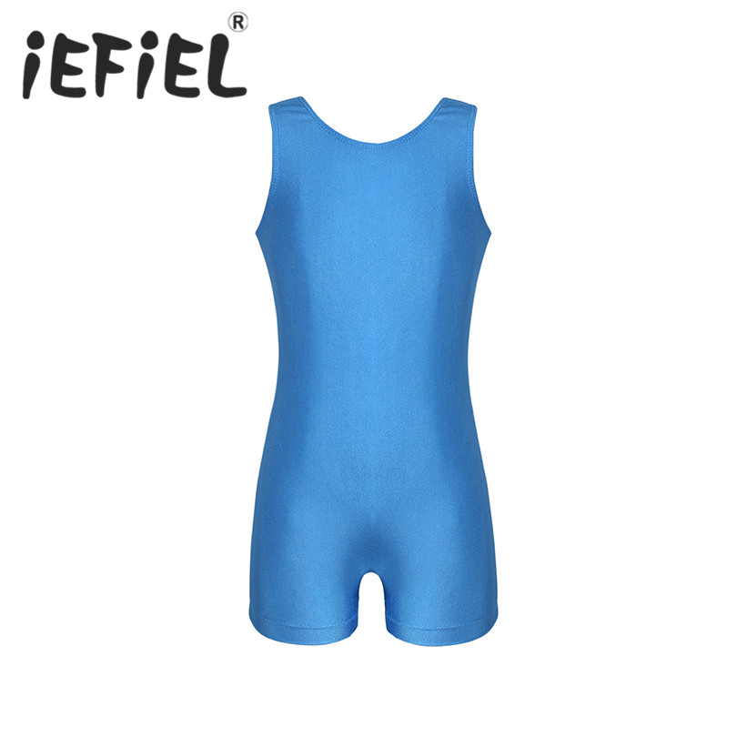 iEFiEL New Arrival Kid Girls Children Sleeveless Keyhole Back Ballet Dance Gymnastics Leotard Jumpsuit Perform Dancewear Clothes