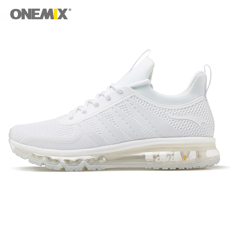 Onemix running shoes for men high top shock absorption sports sneaker breathable light sneaker for outdoor walking jogging shoes