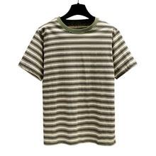 2019 Women T-shirts Summer Harajuku Casual striped Tops Tee Short sleeve 100% Cotton T shirt For Clothing