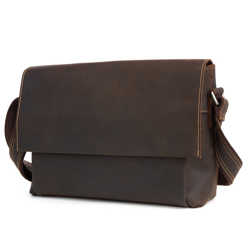 New Genuine Leather Men Bag Trend Retro Shoulder Messenger Bags Crazy Horse Leather Men Bag A4247 mecool kiii pro 3g 16g dvb s2 dvb t2 dvb c android 7 1 amlogic s912 set top box support 2 4g 5g wifi bt4 0 cccam newcamd iptv