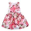 Summer Style Princess Baby Kid Girls Dress Sleeveless Summer Dresses Floral Party Tutu Dress