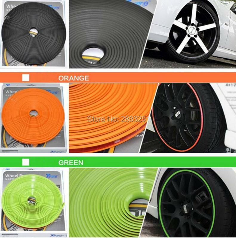 8M Car Styling Car Wheel Hub Sticker Decorative Strip For