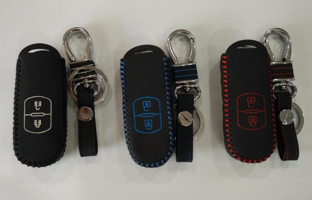 Skórzana torba na klucze Genual, etui na klucze do Mazdy 3 mazda 6 - Akcesoria do wnętrza samochodu - Zdjęcie 2