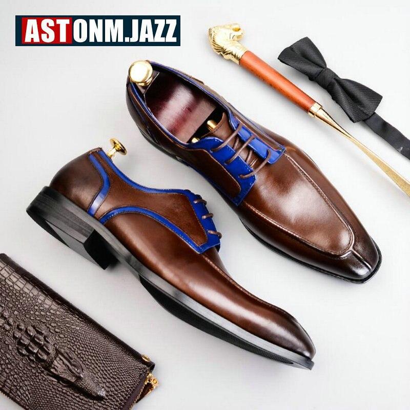 Men s Casual Wedding Shoe Black Genuine Leather Shoes Men Oxfords Brogue Shoe Big Size 46
