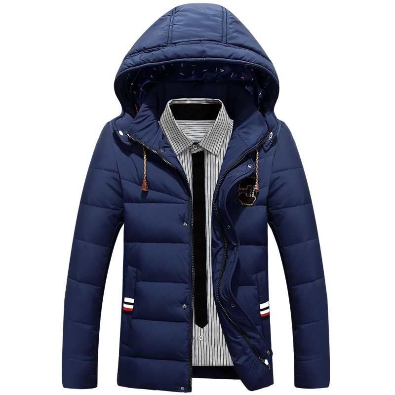 Aolamegs men s white duck down jacket coats casual solid hooded winter jackets men fashion overcoat