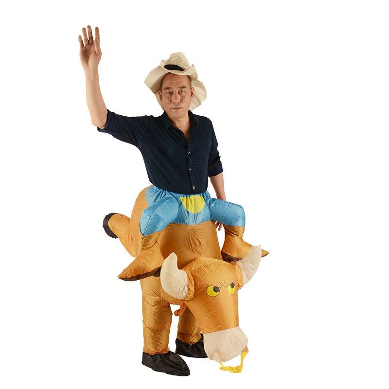 Sac de toile en caoutchouc gonflable de haute qualité ventilateur fonctionnant taille adulte Cosplay rhubarbe canard dinosaure chevalier fête d'halloween - 2