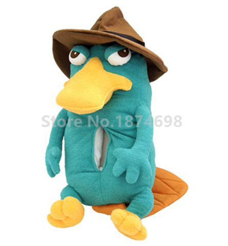 New Phineas and Ferb Plush Perry Agent P Platypus Cute Stuffed Animals Kids Toys for Children Gifts stuffed toy