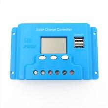 New type 30A 12V 24V intelligence Solar cells Panel Battery Charge Controller Regulators LCD 5V USB