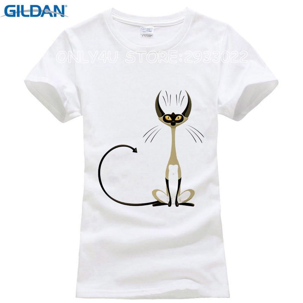 Desain t shirt elegan - Gildan Super Keren Elegan Kucing T Shirt Untuk Wanita Orisinalitas Desain Fashion 3d Kemeja Merek